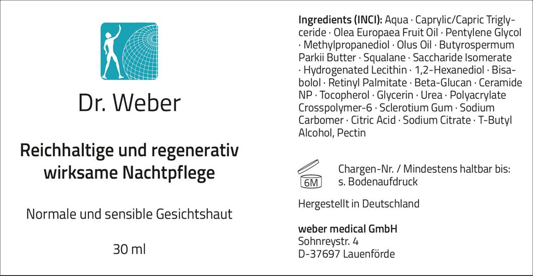 Dr. Weber Nachtpflege 30 ml
